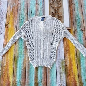 NWT Brandy Melville Open Weave Chunky Sweater OS